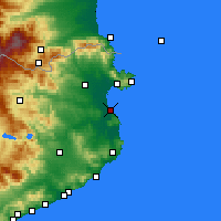Nearby Forecast Locations - L'Escala - Mapa