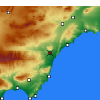 Nearby Forecast Locations - Villaricos - Mapa