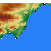 Nearby Forecast Locations - Carboneras - Mapa