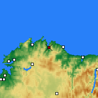Nearby Forecast Locations - Viveiro - Mapa