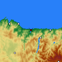 Nearby Forecast Locations - Ribadeo - Mapa