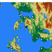Nearby Forecast Locations - Mytikas - Mapa