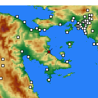 Nearby Forecast Locations - Archea Epidavros - Mapa