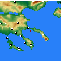 Nearby Forecast Locations - Ammouliani - Mapa