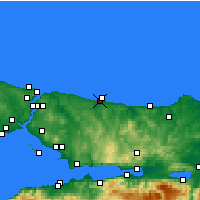 Nearby Forecast Locations - Hacikasim - Mapa
