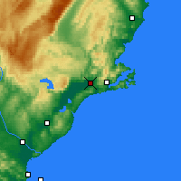 Nearby Forecast Locations - Mosgiel - Mapa