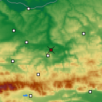 Nearby Forecast Locations - Gorna Oryahovitsa - Mapa