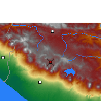 Nearby Forecast Locations - Quetzaltenango - Mapa