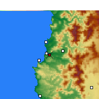 Nearby Forecast Locations - Viña del Mar - Mapa