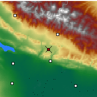 Nearby Forecast Locations - Qabala - Mapa