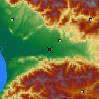 Nearby Forecast Locations - Kutaisi - Mapa