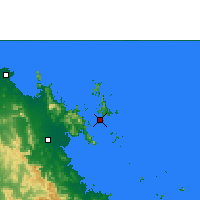 Nearby Forecast Locations - Hamilton Island - Mapa