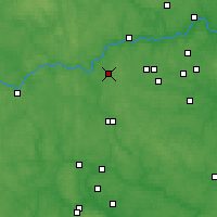 Nearby Forecast Locations - Kubinka - Mapa