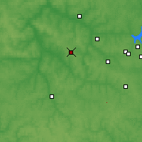 Nearby Forecast Locations - Shchyokino - Mapa