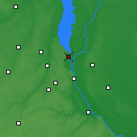 Nearby Forecast Locations - Vyšhorod - Mapa