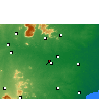 Nearby Forecast Locations - Tiruččiráppalli - Mapa