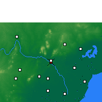 Nearby Forecast Locations - Vidžajavada - Mapa