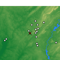 Nearby Forecast Locations - Bessemer - Mapa