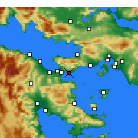 Nearby Forecast Locations - Agioi Theodoroi - Mapa