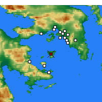 Nearby Forecast Locations - Aegina - Mapa