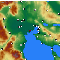 Nearby Forecast Locations - Chalastra - Mapa
