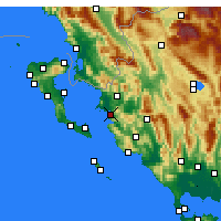 Nearby Forecast Locations - Igoumenitsa - Mapa