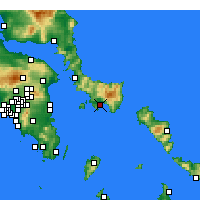 Nearby Forecast Locations - Karystos - Mapa