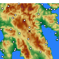 Nearby Forecast Locations - Tegea - Mapa