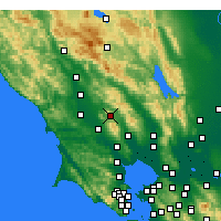 Nearby Forecast Locations - Santa Rosa - Mapa