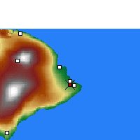 Nearby Forecast Locations - Hilo - Mapa