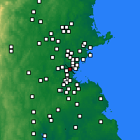 Nearby Forecast Locations - Somerville - Mapa