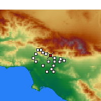 Nearby Forecast Locations - Altadena - Mapa