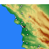 Nearby Forecast Locations - Arroyo Grande - Mapa