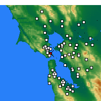 Nearby Forecast Locations - Belvedere Tiburon - Mapa