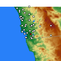 Nearby Forecast Locations - Bonita - Mapa