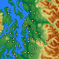 Nearby Forecast Locations - Bothell - Mapa