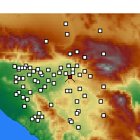 Nearby Forecast Locations - Colton - Mapa