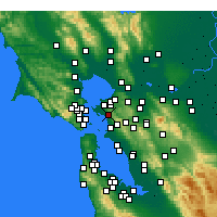 Nearby Forecast Locations - El Cerrito - Mapa
