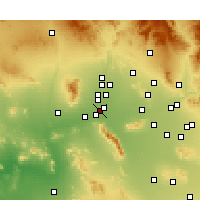 Nearby Forecast Locations - Goodyear - Mapa