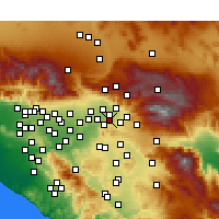 Nearby Forecast Locations - Loma Linda - Mapa