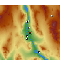 Nearby Forecast Locations - Mohave Valley - Mapa