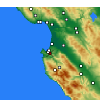 Nearby Forecast Locations - Monterey - Mapa