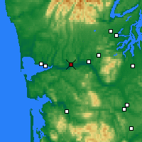 Nearby Forecast Locations - Montesano - Mapa