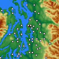 Nearby Forecast Locations - Mountlake Terrace - Mapa