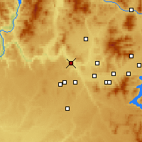 Nearby Forecast Locations - Nine Mile Falls - Mapa