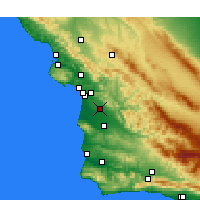 Nearby Forecast Locations - Nipomo - Mapa