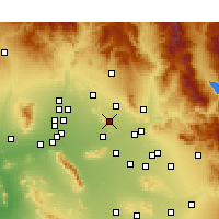 Nearby Forecast Locations - Paradise Valley - Mapa