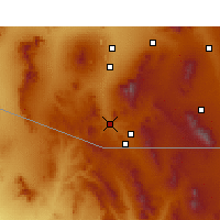 Nearby Forecast Locations - Rio Rico - Mapa