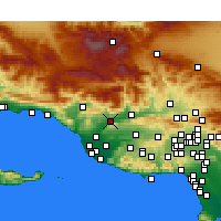 Nearby Forecast Locations - Santa Paula - Mapa
