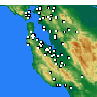 Nearby Forecast Locations - Stanford - Mapa
